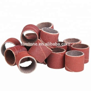 power abrasive polishing tools grinding sleeve band with sand paper for metal