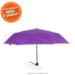 Small MOQ one piece Travel Compact Umbrella With Case