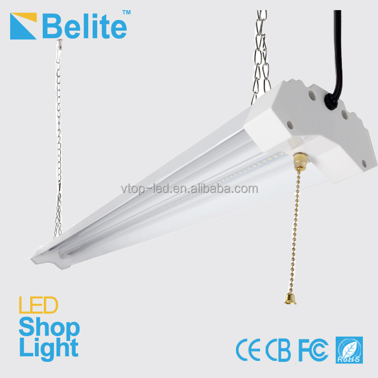 4 feet led light for shop 40w 4600lm 277v led shop lightCE ETL DLC approved