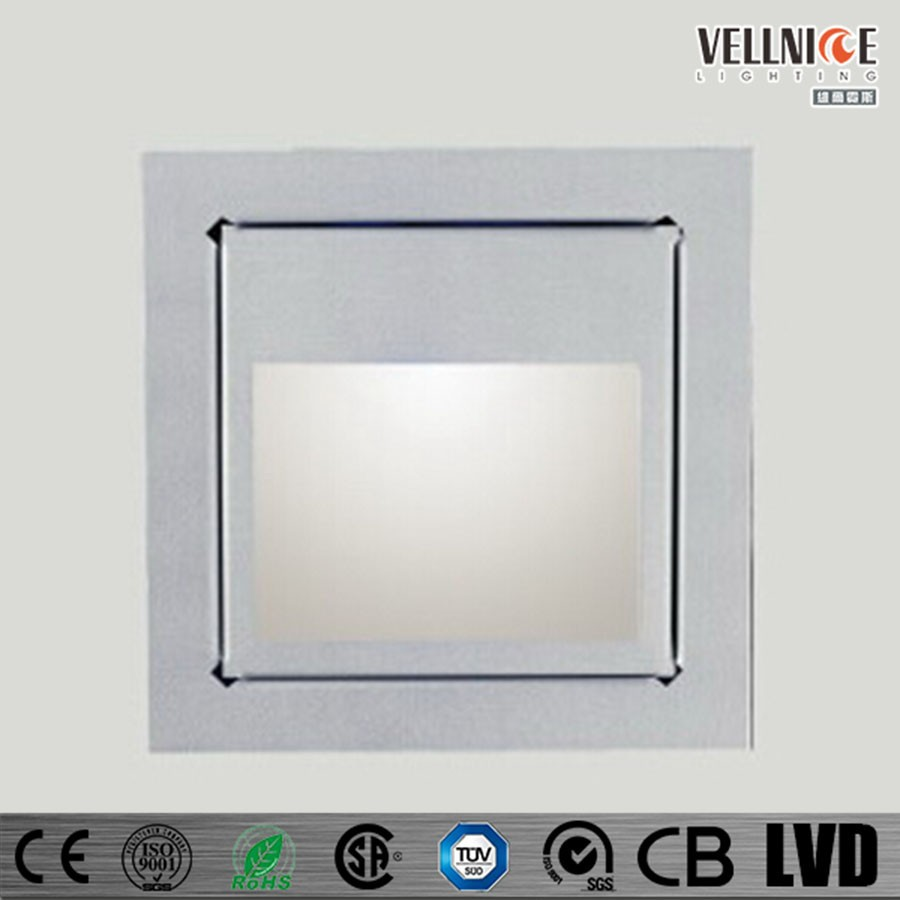 Led Stair Step Wall Light Recessed Mount Indoor Night Lighting R3b0019 Square Product