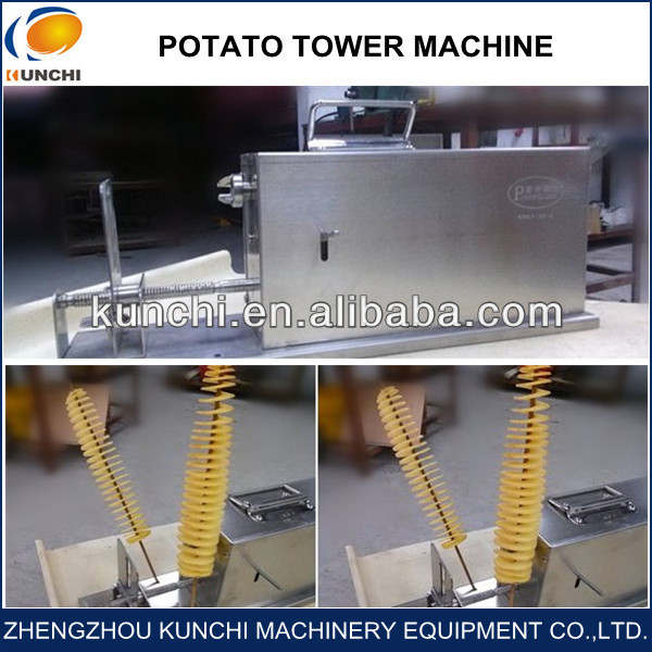Golden Stainless Steel Longlife Spring Potato Cutter/Twist Potato /Tornado Potato