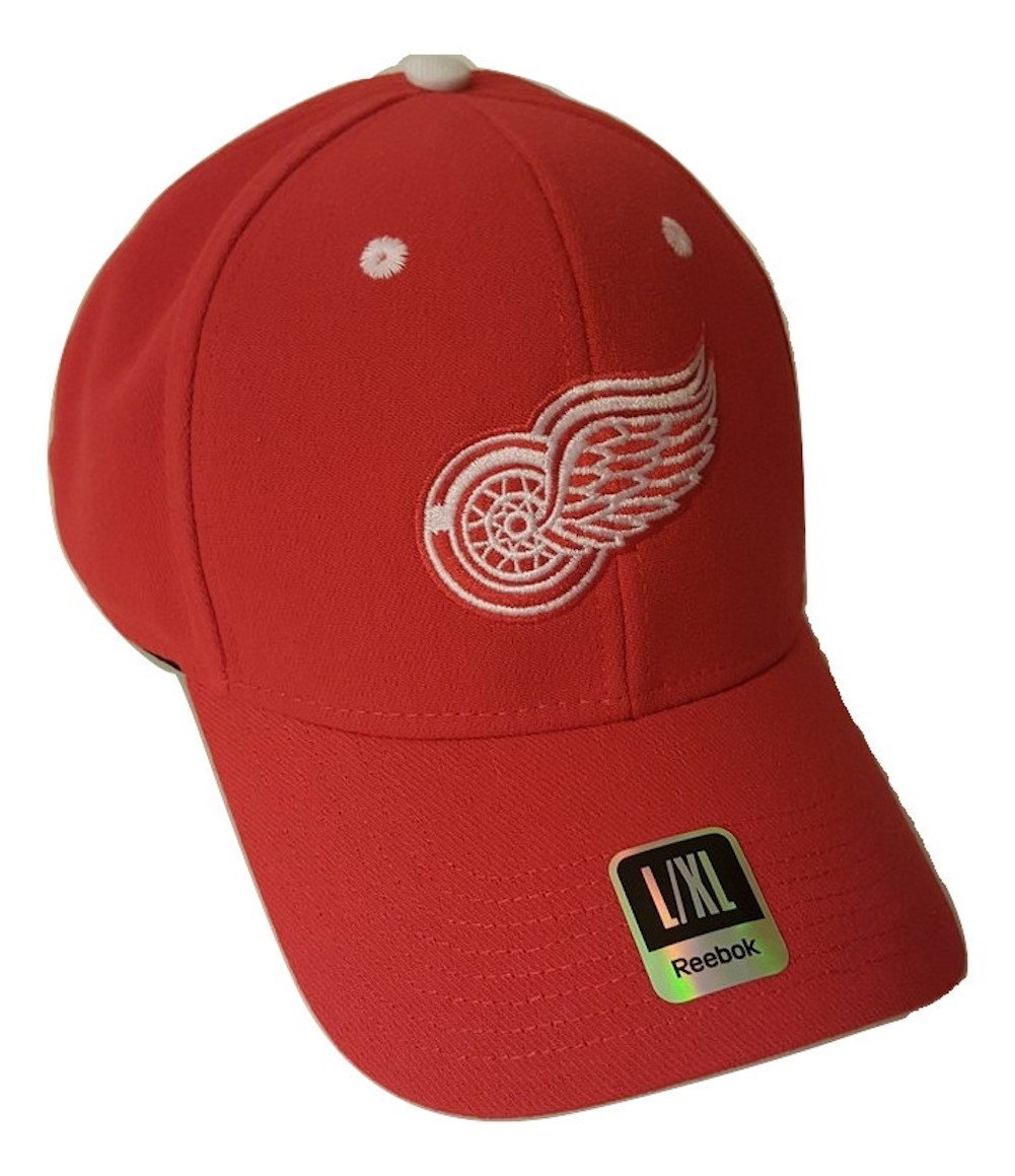 f6a2e0e8 Get Quotations · NHL Detroit Red Wings Cap Structured Flex Fit Logo Hat L/XL