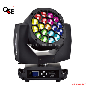bee eye K10 zoom 19*15W led moving head light wash