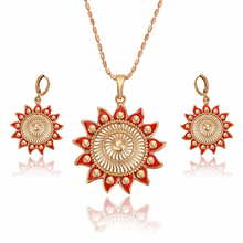 63771 Xuping (High) 저 (Quality <span class=keywords><strong>인도</strong></span> Bridal Red Jewelry Sets, 핫 세일 패션 <span class=keywords><strong>금</strong></span> wholesale <span class=keywords><strong>인도</strong></span> <span class=keywords><strong>보석</strong></span>