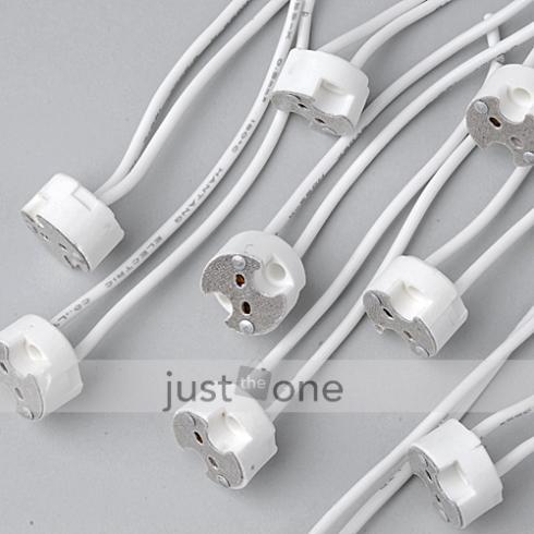 10 pcs for led mr16 gu5 3 mr11 lamp bulb wire connector socket halogen wired lamp holder base. Black Bedroom Furniture Sets. Home Design Ideas