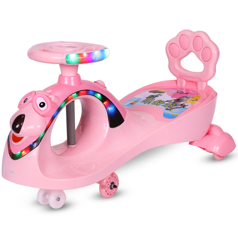 children swing car toys/Kids high quality ride on wiggle car/outdoor 4 wheels kids twist wiggle car