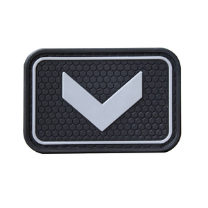 Soft pvc patch logo custom hook loop durable rubber badge for kids