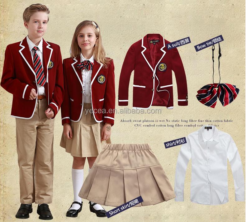 Modernos dise os de uniforme escolar para los ni os - Uniformes sanitarios modernos ...