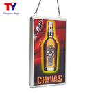 Portable hanging animated beer advertising display led lightbox