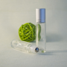empty mini refillable glass roll on bottle with stainless steel roller ball for eye cream and essential oils