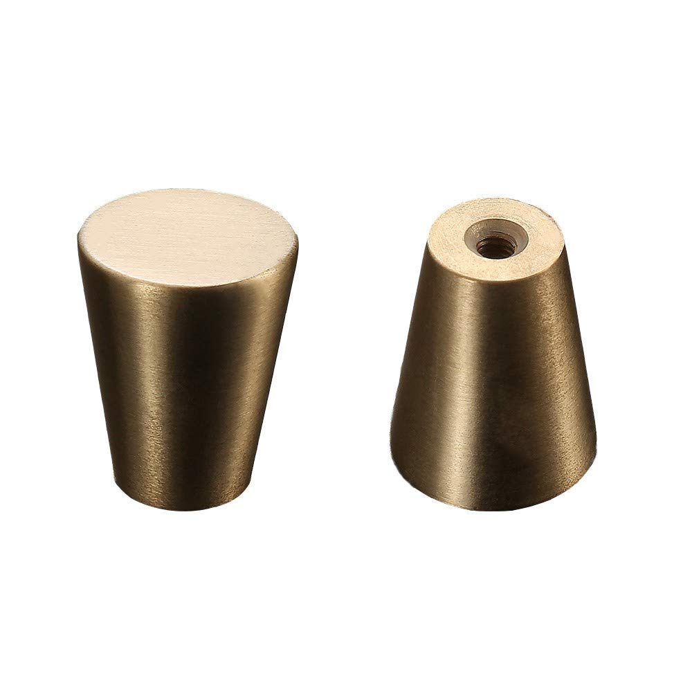 Handle Anti Oxidation Hardware Cone Handle Pure Copper Drawer Handle 15mm Four Piece Length