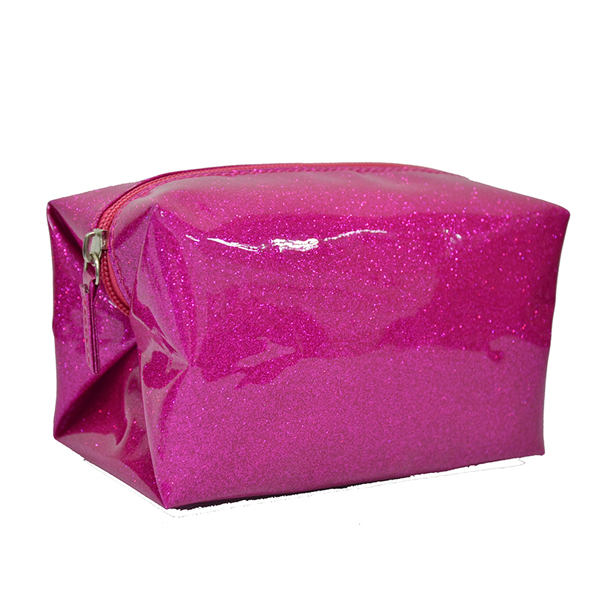 new design style Glittery PVC <strong>cosmetic</strong> travel customized make up bag for girls
