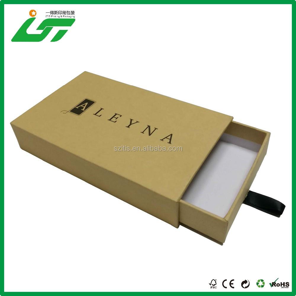 Браслет упаковывая бумажная коробка с умным стилем двойной палубе бумажная коробка подарочная коробка