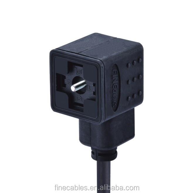 type A valve plug connector,molded cable female valve plug,waterproof valve plug connector