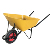 Chile 90L welding welded wheelbarrow for masons builders WB7709
