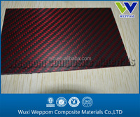 3K Hybrid Twill Woven Kevlar Aramid Carbon Fiber sheet 5mm