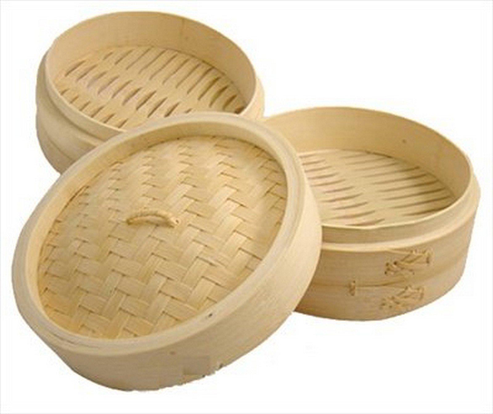JapanBargain-Asian Kitchen Bamboo Steamer, 12-Inch