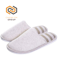 Memory Foam Unisex Slip On Cotton House Stripe Slipper