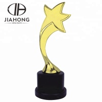 Souvenir use customized star metal award trophy/trophy cup