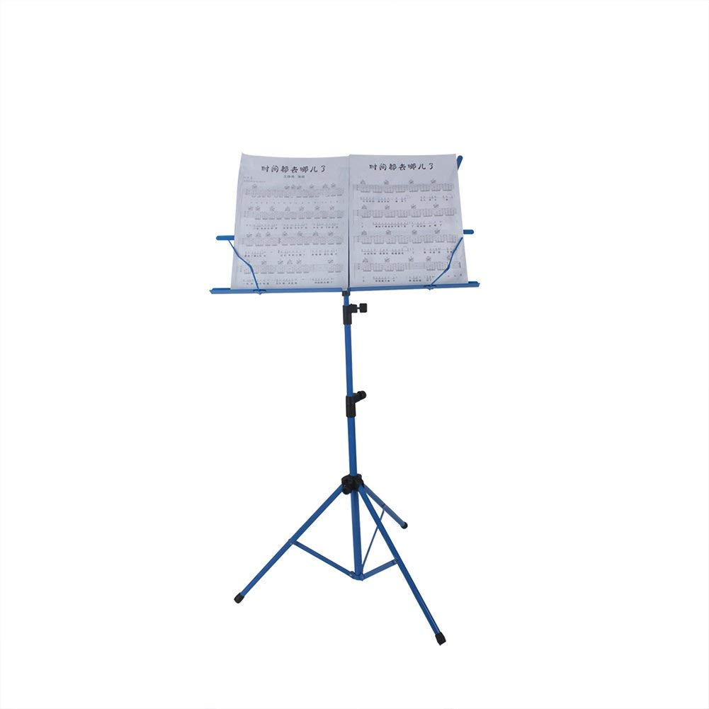Adjustable Sheet Music Stand, Foldable Music Score Tripod Stand with Storage Bag(Blue)