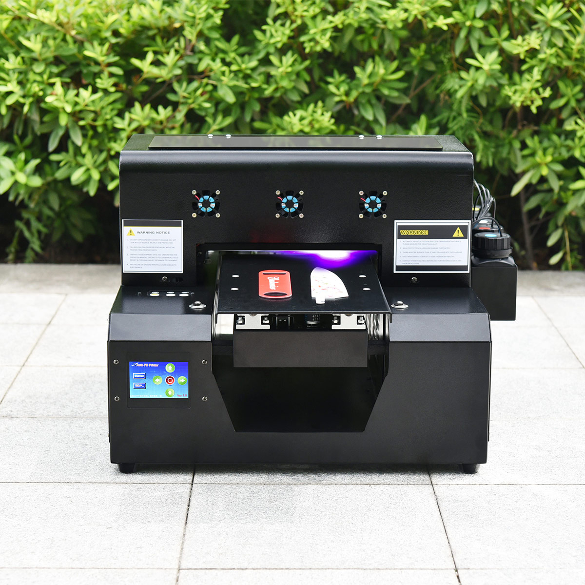 Yicai A3 A4 flatbed uv printer voor recharge naam card printing machine