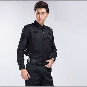 Customized Workwear Long Sleeve Tops with Pants Security Guard Uniforms