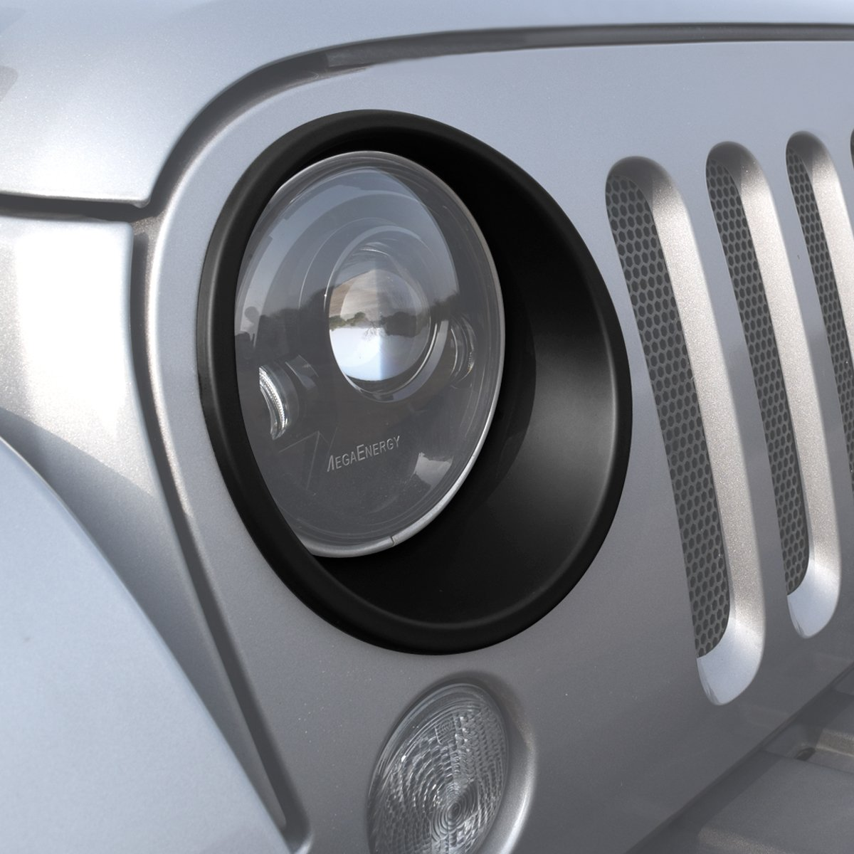 Cheap 4 Door Jeep Accessories Find Deals On Light Get Quotations Icarszone Icars Black Front Headlight Trim Cover Bezels Pair Wrangler Rubicon Sahara Sport Jk Unlimited