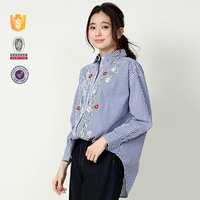 2017 Japanese style women embroidery blouse for women