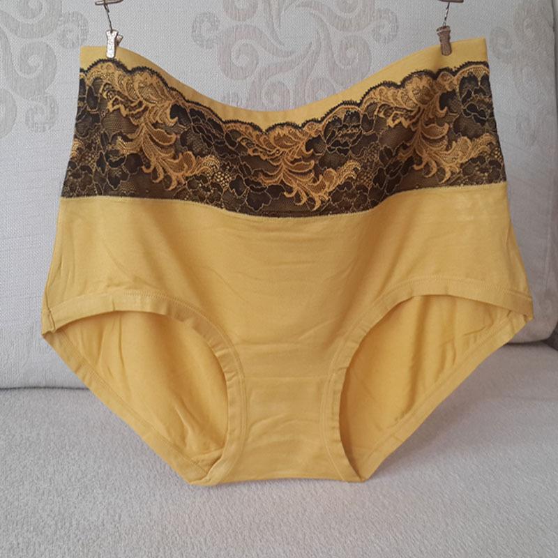 11099a55f4 2Pcs lot New Arrival High Waist Big Size Underwear Women Panties Plus Size  6XL 7XL Modal Lace Sexy Lingeries women s briefs