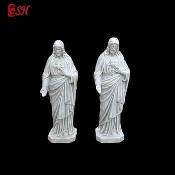 Natural marble machine carving small religious statues for interior decoration