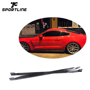 Carbon Fiber Car Side Skirts Extension for Ford Mustang GT Coupe 15-17