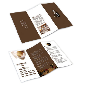 customized 80gsm thin paper fold flyer folded leaflet printing