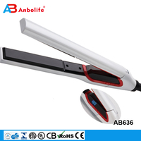 Anbolife New 2018 Hot Selling Professional Protable Electric PTC Heating Automatic Ceramic LCD Steam Hair Straightener
