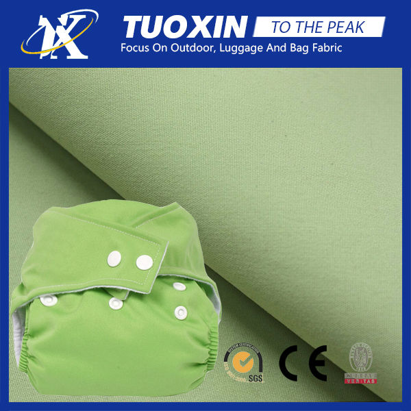 1 mil pul diaper fabric washable eco-friendly pul fabric for cloth diaper