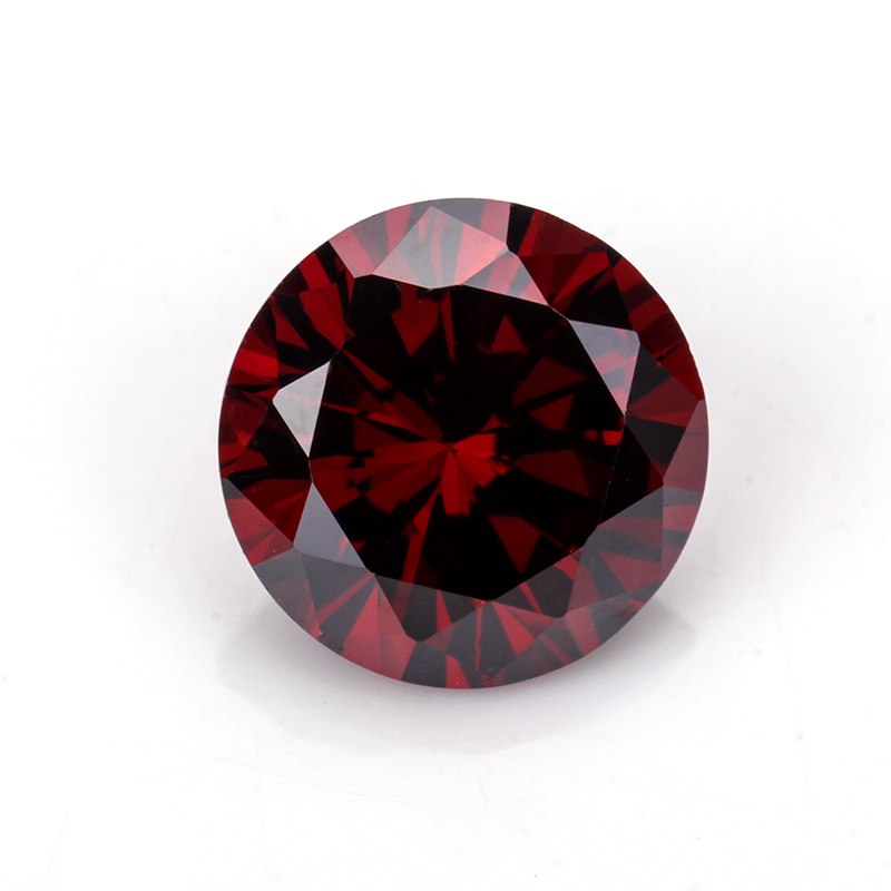 round machine cut synthetic cubic zirconia jewelry making red gemstones names