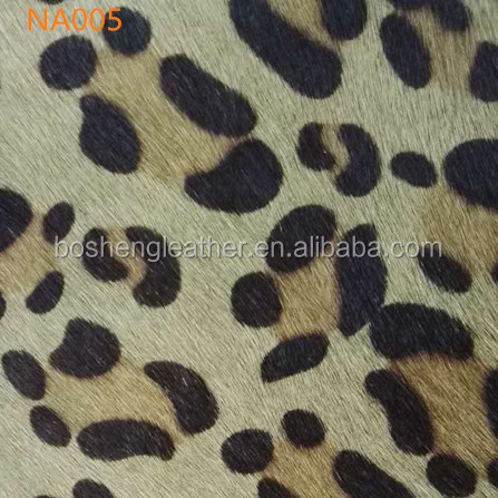 2017LEOPARD PRINTING COW HAIR LEATHER FOR SHOE