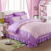 Top quality Mediterranean style ribbon work bed sheets designs