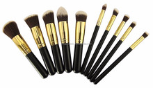 10pcs professional makeup brush set