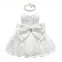 Promotion Baby Christening Dress for Baby Girl Baptism Dress Birthday Princess clothes for Wedding