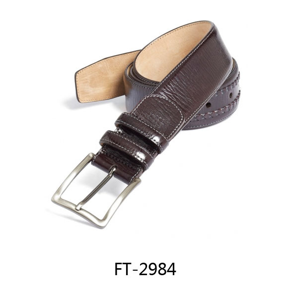 Genuine Leather Pin Buckle Men Calf Leather Belt Waistband Matt Leather Belts