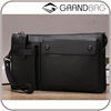 Multifunctional genuine leather men's business clutch with card slots designer cell phone wallet hand bags for men