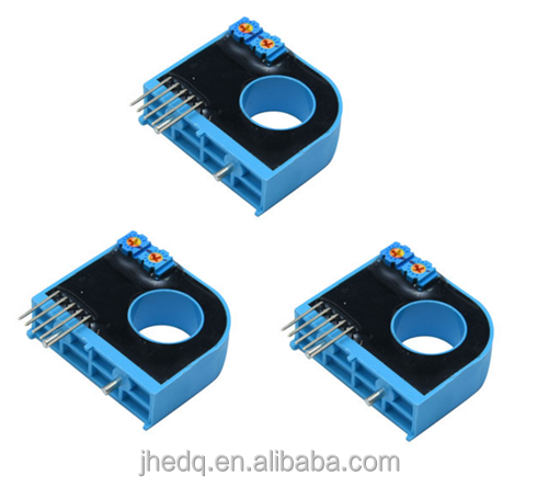 High accuracy hall effect sensor for controlling or measuring DC, AC and pulse currents