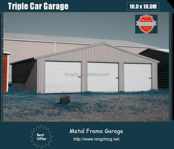 3 Car Metal Garage Large Shed Steel Construction Factory Building