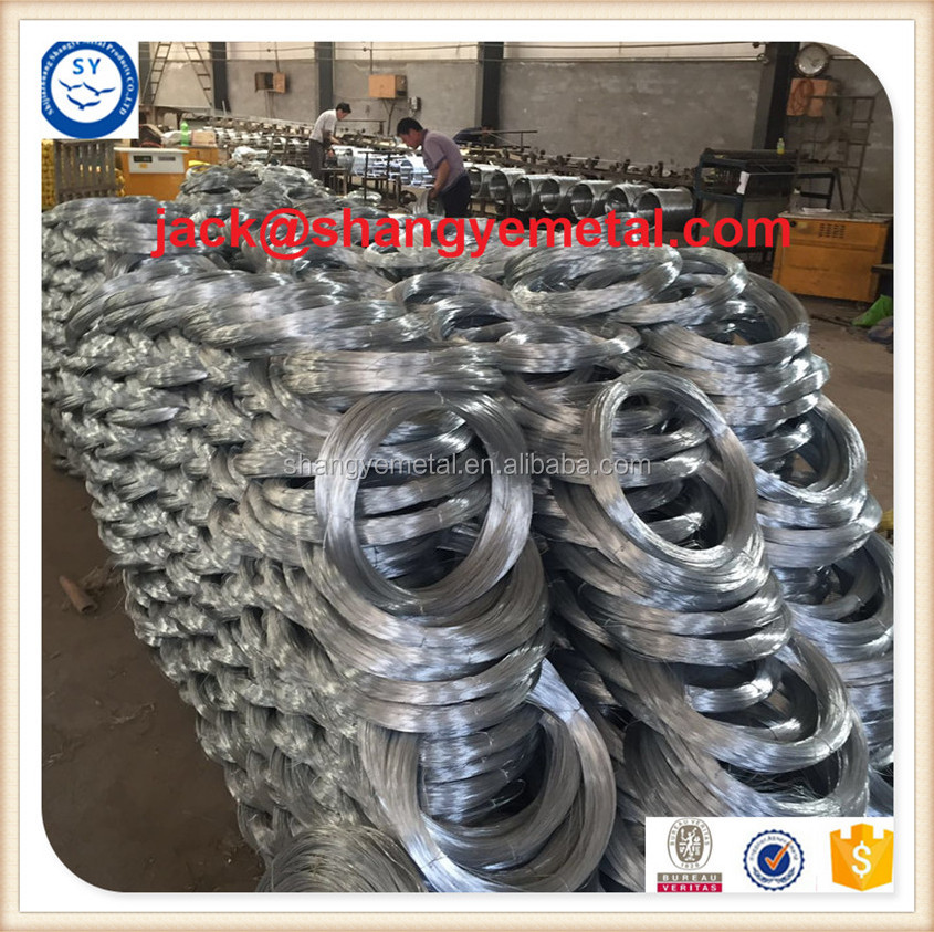 M.S.WIRE zinc coated /galvanized iron wire in China`s factory