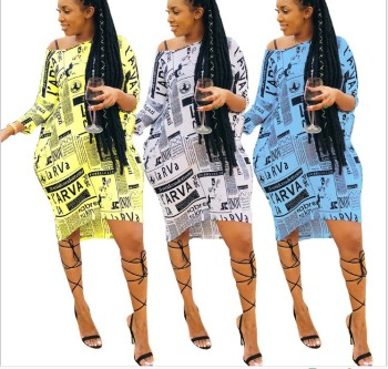 zm50047h Summer women loose fashionable and casual printing dress 2019 hot style lady clothing