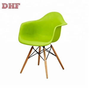 Durable And Comfortable Tulip Arm Chair With Wood Legs