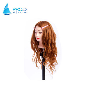 Practice head mold can be hot roll hair style dummy head 95% real hair mannequin head
