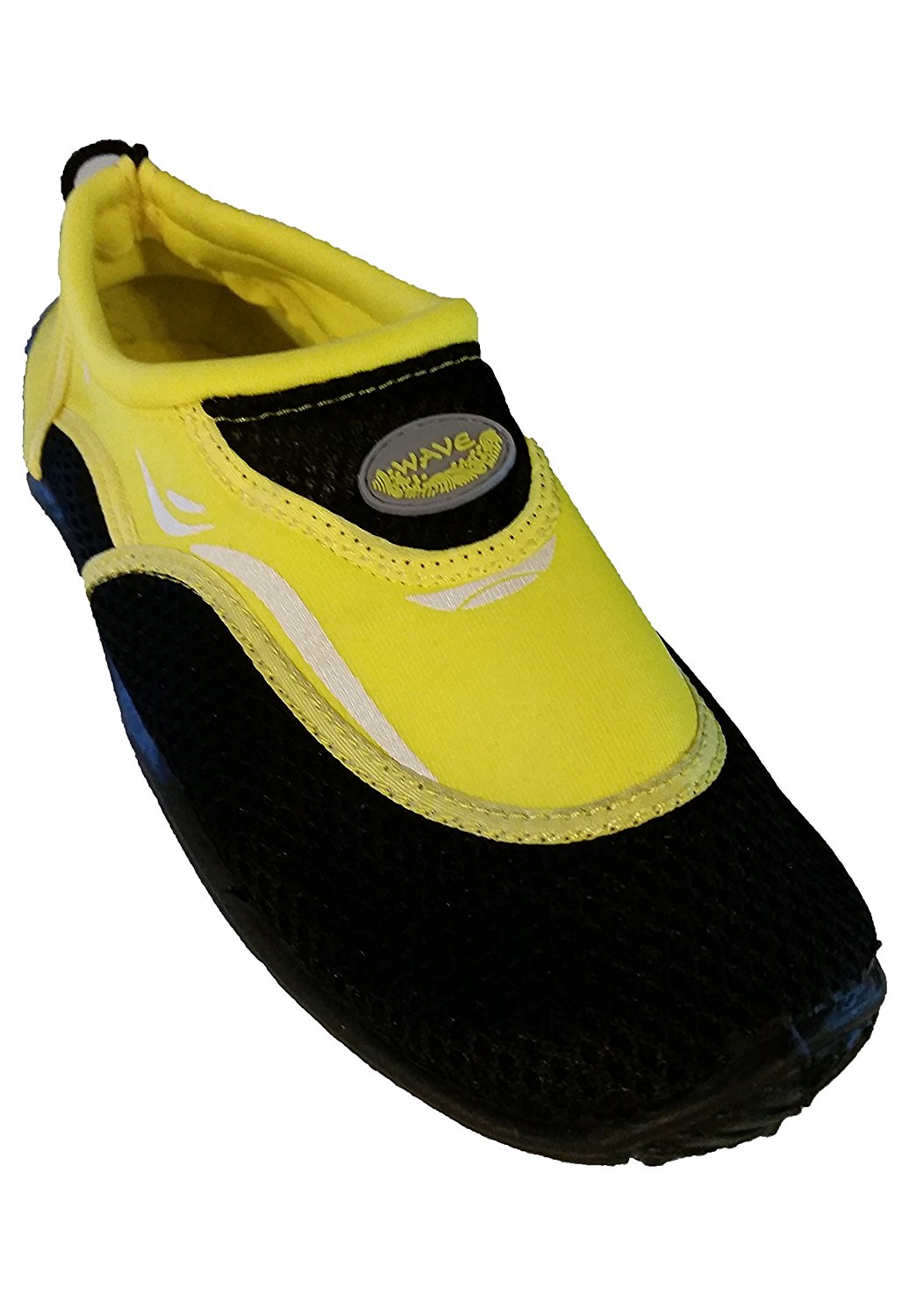 Mens Wave Water Shoes - Black and Yellow (12)