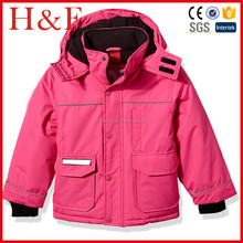 Waterproof Girls' Ski Jacket made of 100% polyester