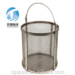 Food Grade SS Mesh Tumble Basket For BBQ